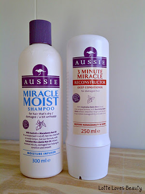 Aussie Miracle Moist Shampoo & 3 Minutes Miracle Reconstructor