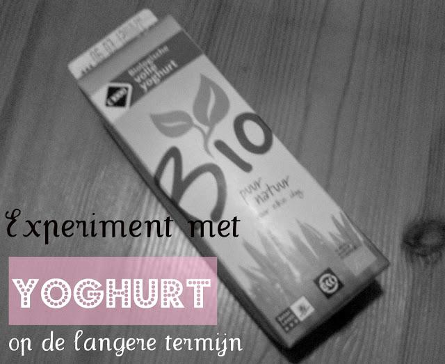 Experiment op de langere termijn: Yoghurt!