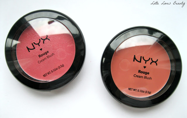 NYX Cream Blush in 05 Glow & 01 Rose Petal