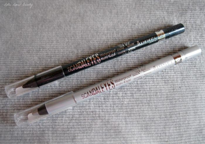 Rimmel Glam'Eyes in 023 Beauty Spells en Scandaleyes in 010 Silver en 002 Sparkling Black