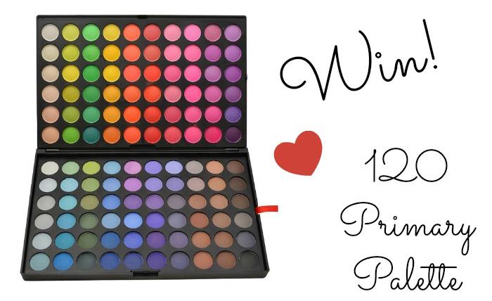 Winweek dag 6: Win een 120 Primary Eyeshadow Palette