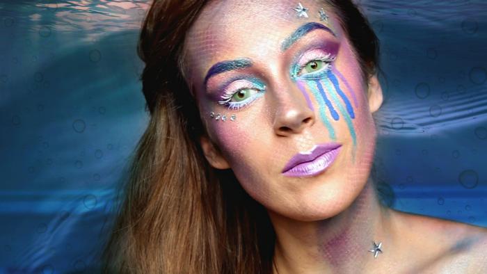 Filmpje: Mermaid Make Up (Halloween tutorial)