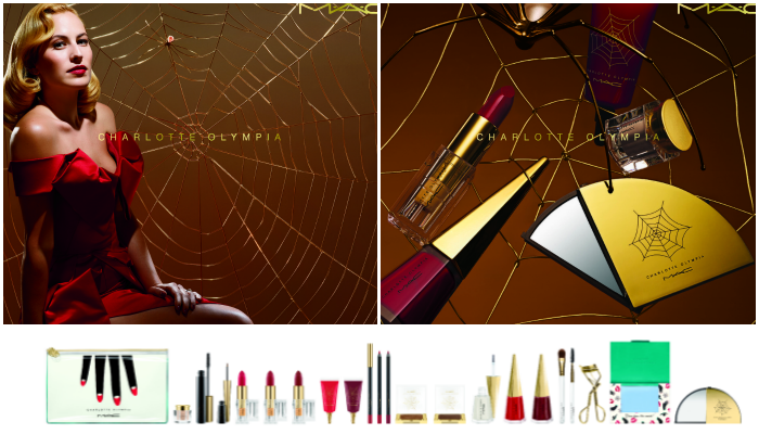 MAC Charlotte Olympia collection (overview + swatches en full face look)