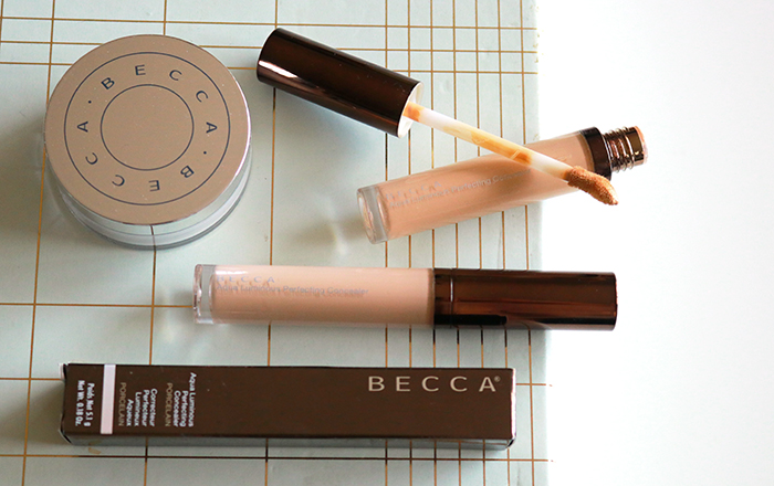 BECCA Aqua Luminous Perfecting Concealer & Under Eye Brightening Setting Powder