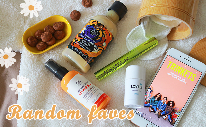 Random faves #27 || Favo mascara, skincare, snack, serie & meer